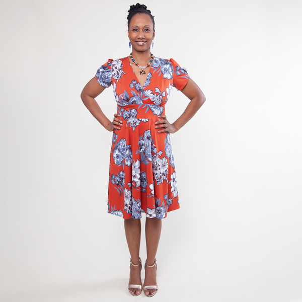 Megan Dress in Sunday Brunch by Karina Dresses