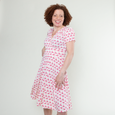 Megan Dress in Pink Flamingos by Karina Dresses