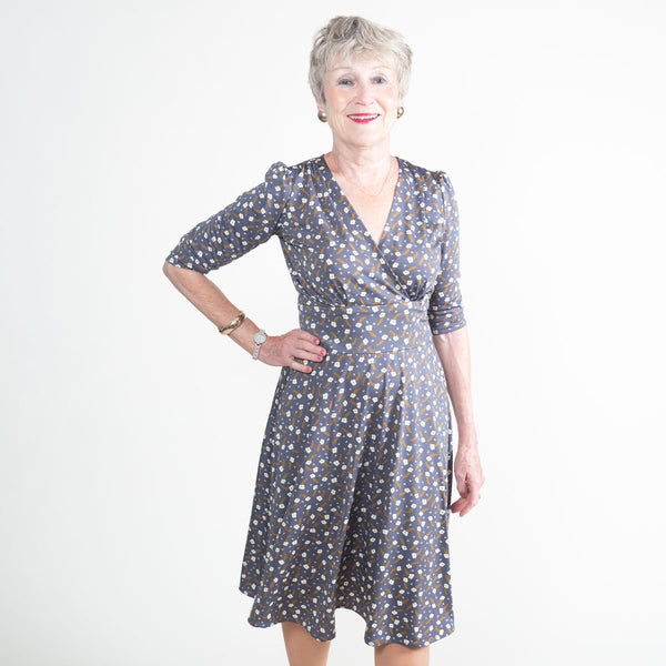 1940s Plus Size Fashion: Style Advice from 1940s to Today Megan Dress - Prairie Clover $108.00 AT vintagedancer.com
