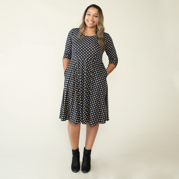 Naomi Dress in Power Polka Dot by Karina Dresses