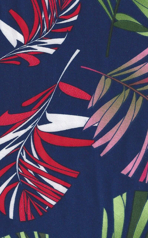 Karina Dresses: Navy Tropical Palm