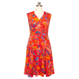 Nora Dress in Bali by Karina Dresses. The perfect travel dress! Made in the USA.