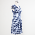 Nora Dress - Navy and White Gingham