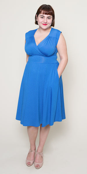Nora Dress in Bahama Dot