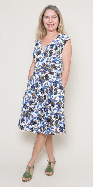 Nora Dress in Grecian Gardens