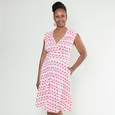 Nora Dress in Pink Flamingos by Karina Dresses