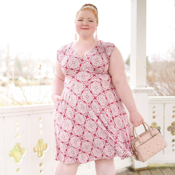 Nora Dress in Rose Trellis by Karina Dresses