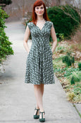 Nora Dress in Sage Sprigs by Karina Dresses