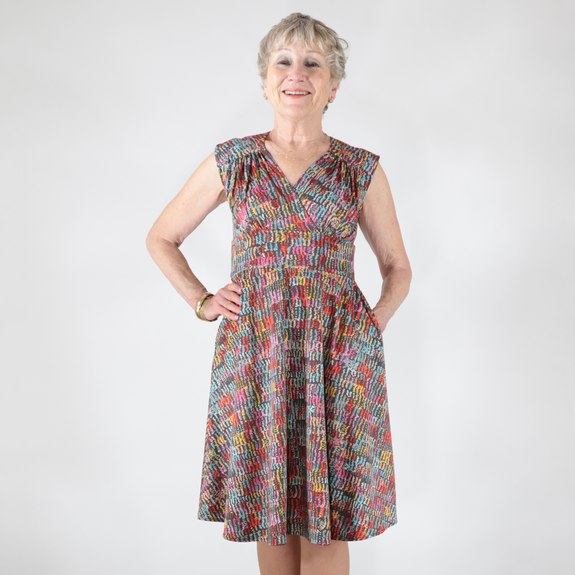 Nora Dress in Squiggles by Karina Dresses