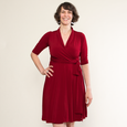 Ruby Dress in Crimson by Karina Dresses