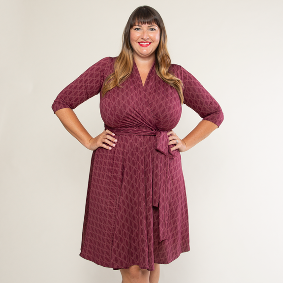Ruby Dress in Pearls in Wine by Karina Dresses