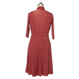 Ruby Dress in Wine Deco Squares by Karina Dresses