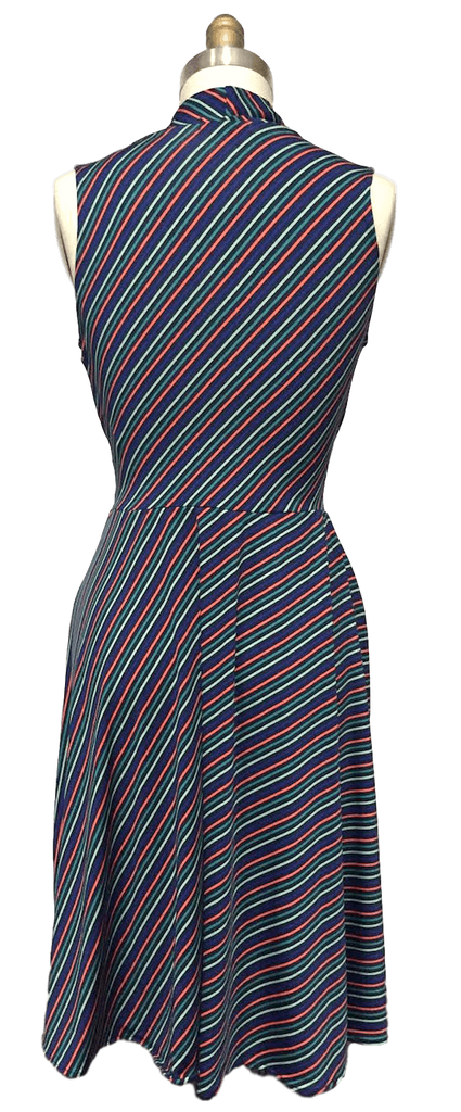 Ruby Dress in Mod Stripe Back View