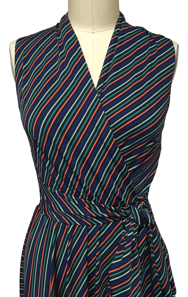 Ruby Dress in Mod Stripe Closeup View