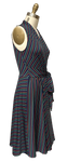Ruby Dress in Mod Stripe Side View