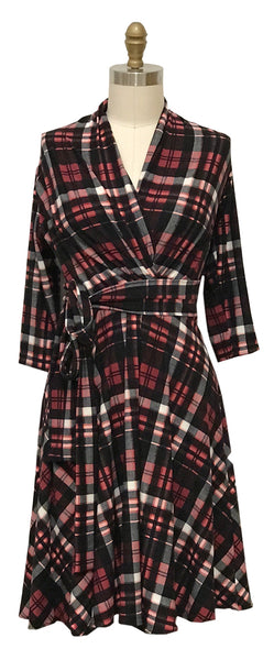 Ruby Dress - Black and Red Plaid