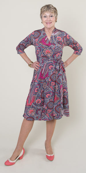 Ruby Dress - Pink Paisley