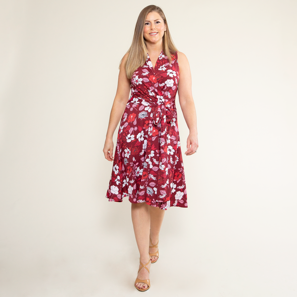 Ruby Dress in Hello Hibiscus by Karina Dresses
