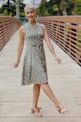 Ruby Dress in Sage Sprigs by Karina Dresses