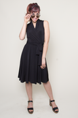 Ruby Dress (Sleeveless) - Solid Black