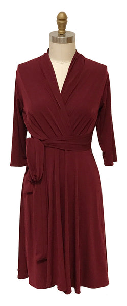 Ruby Dress - Dark Crimson