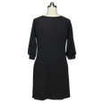 Sophie Dress in Black with White Pin Dots by Karina Dresses