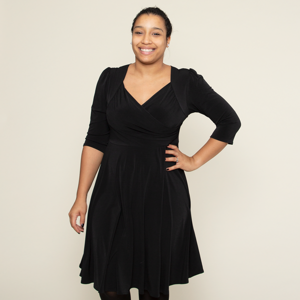 Tina Dress in Black by Karina Dresses