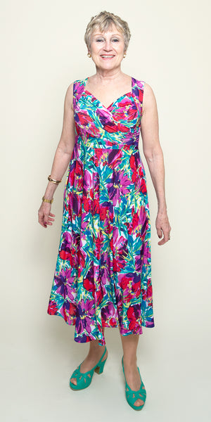 Tara Dress in Bold Blooms by Karina Dresses