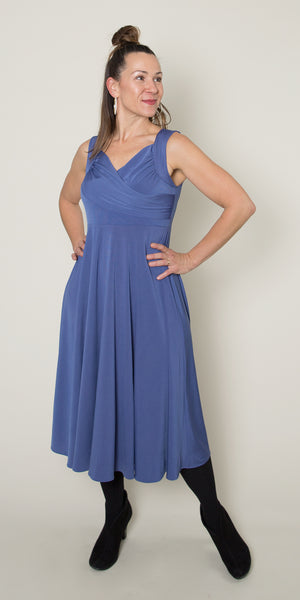 Tara Dress - Bonjour Blue
