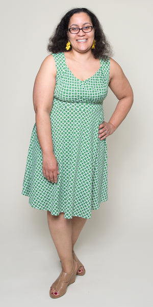 Tina Dress in Mint Maritime Modern