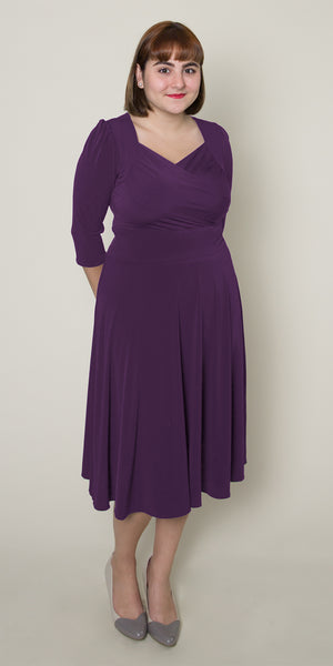Trudy Dress in Plum