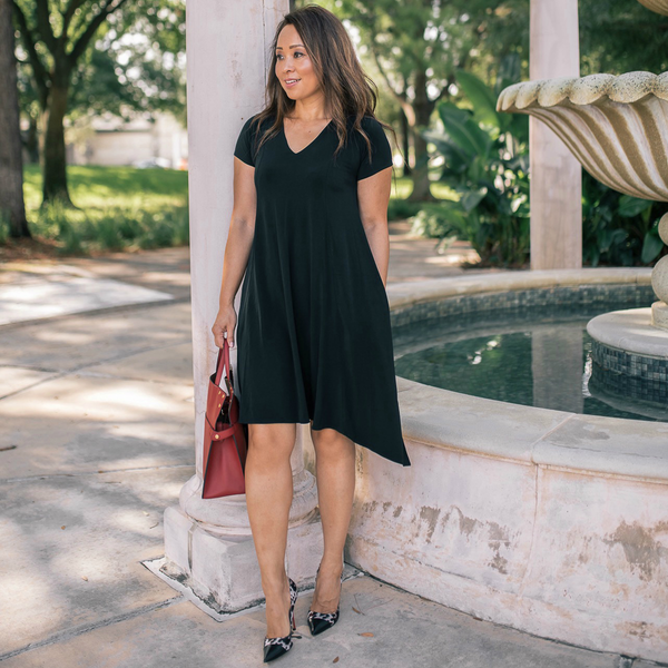 Allie Dress in Black by Karina Dresses