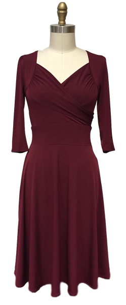 Trudy Dress - Dark Crimson
