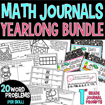 1st Grade Guided Math Journals Yearlong Bundle