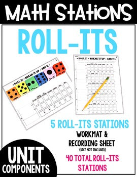 4th Grade Guided Math Stations Yearlong Bundle