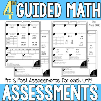 4th Grade Guided Math Assessments