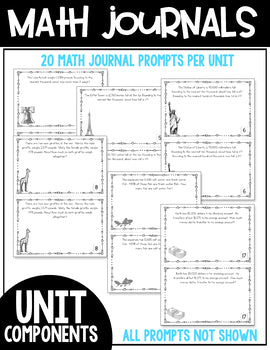 4th Grade Guided Math Yearlong Journals Bundle