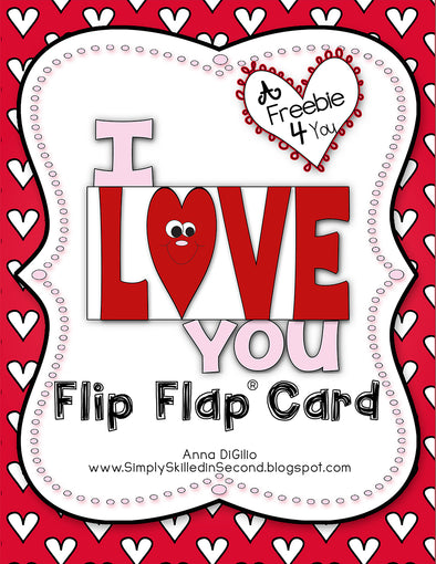 I Love You Flip Flap® Card (Free) | Distance Learning