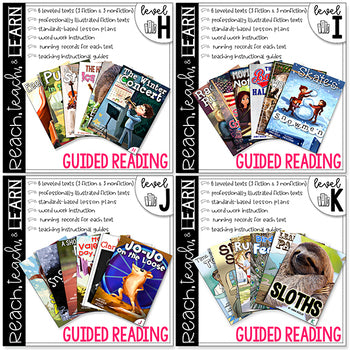 Reach, Teach & Learn Guided Reading Bundle H-K