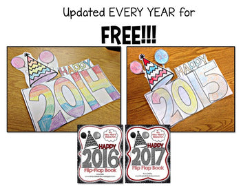2021 New Year Resolutions Flip Flap Book® | Distance Learning