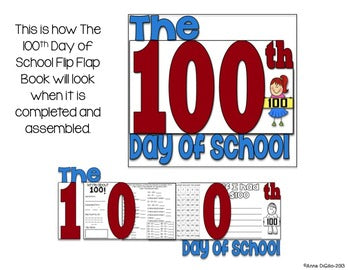 100th Day of School Flip Flap Book®