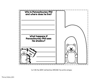 Punxsutawney Groundhog Day Flip Flap Book® | Distance Learning