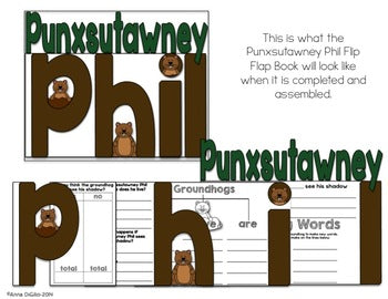 Punxsutawney Groundhog Day Flip Flap Book®