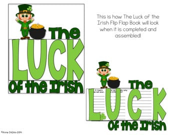 The Luck of the Irish Flip Flap Book® (Free) | Distance Learning