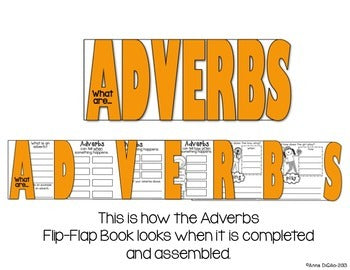 Adverbs Flip Flap Book®