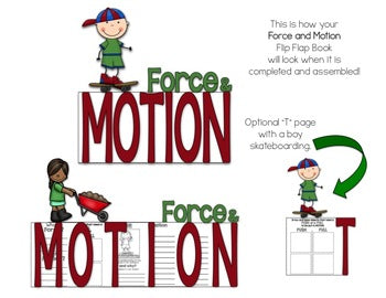 Force and Motion Flip Flap Book® | Distance Learning