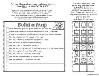 Map Skills Flip Flap Book® | Distance Learning