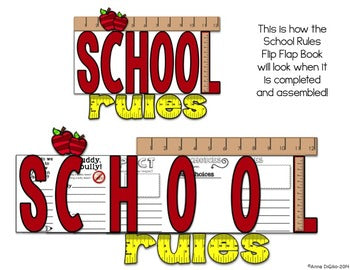 School Rules Flip Flap Book® | Distance Learning