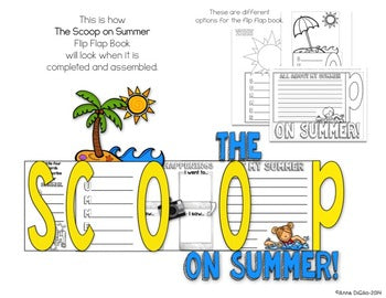 The Scoop on Summer Flip Flap Book®  (Free)