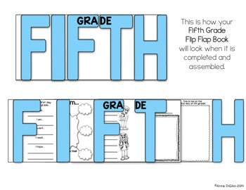 First Day of 5th Grade Flip Flap Book®